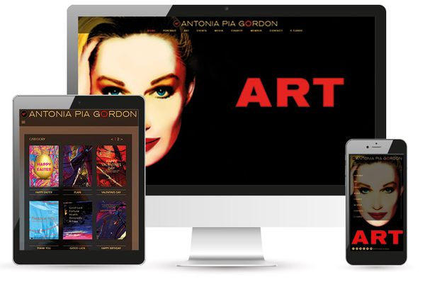 Antonia Pia Gordon Website Relaunch